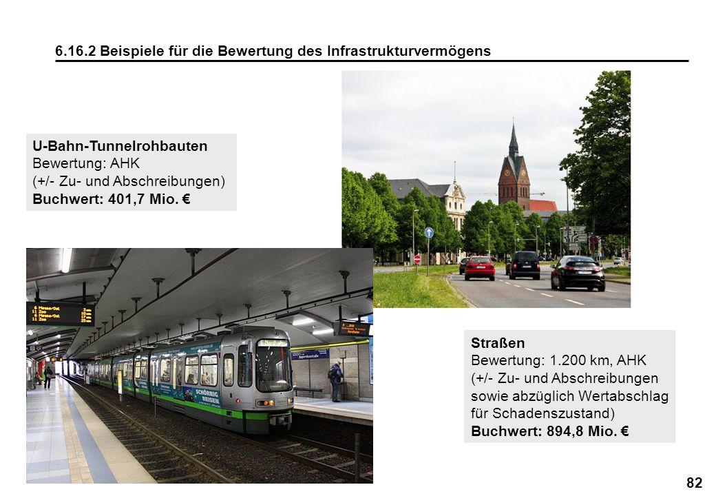 6.16.2 Beispiele für die Bewertung des Infrastrukturvermögens