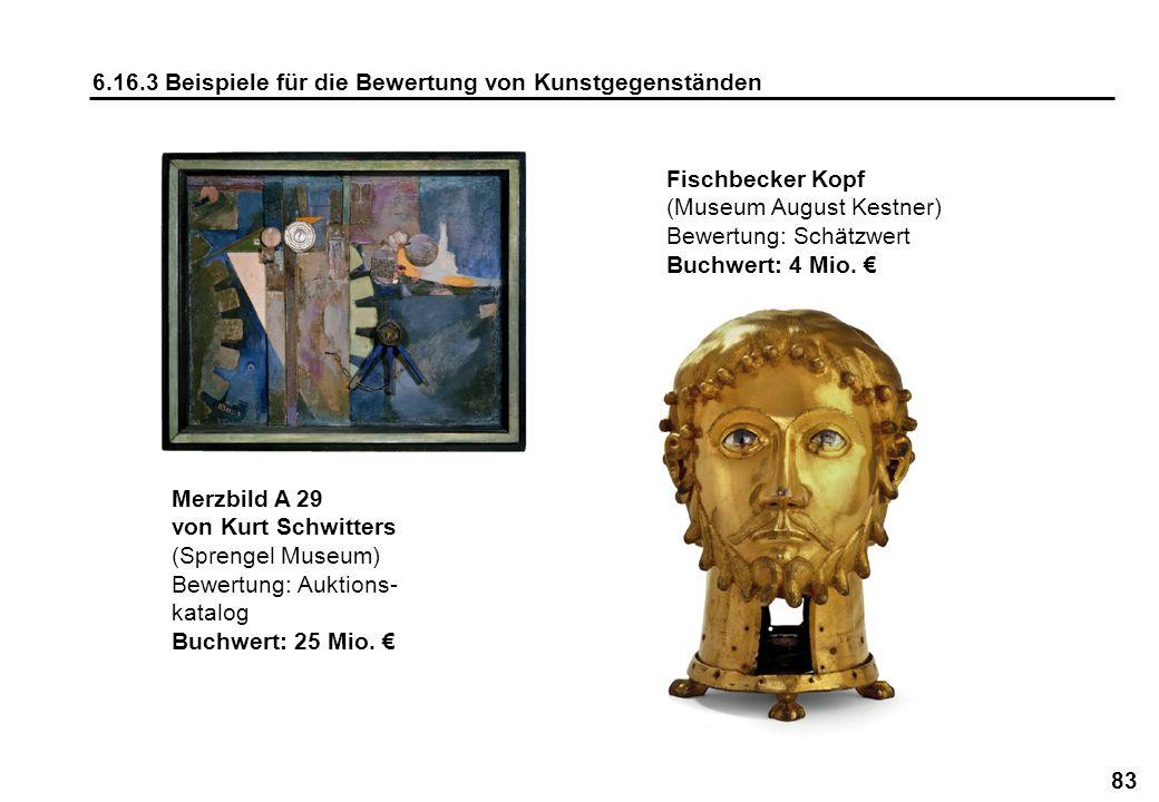 6.16.3 Beispiele für die Bewertung von Kunstgegenständen