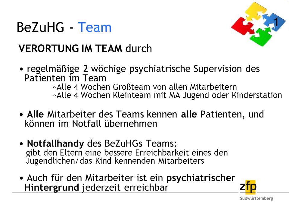 BeZuHG - Team 1 VERORTUNG IM TEAM durch
