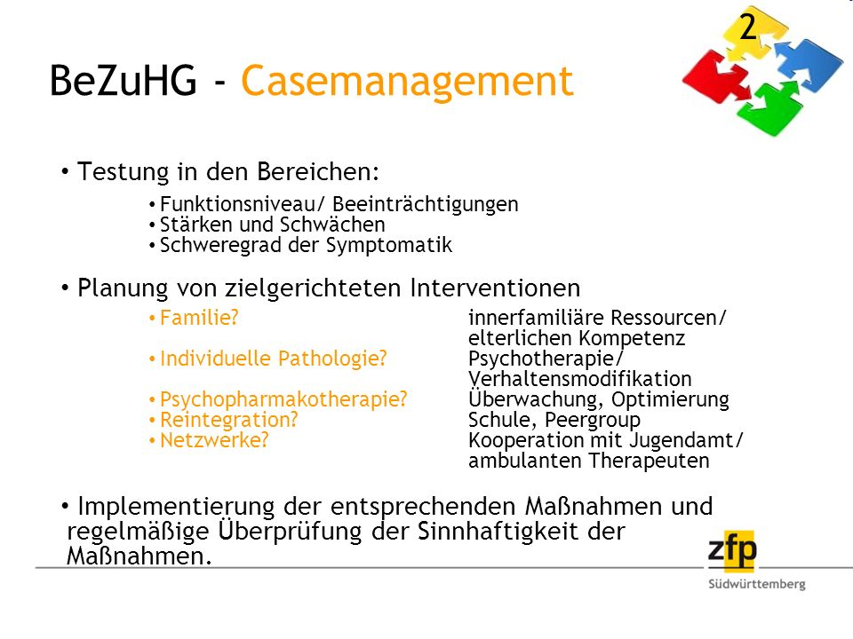 BeZuHG - Casemanagement