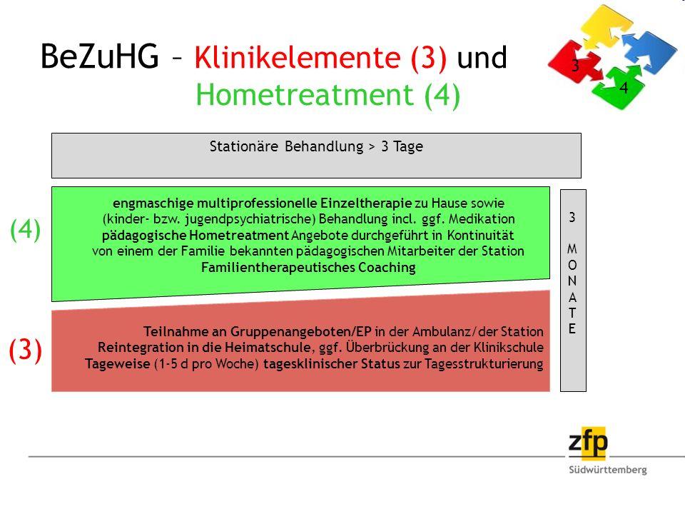 BeZuHG – Klinikelemente (3) und Hometreatment (4)