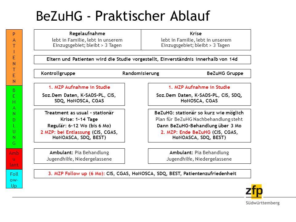 BeZuHG - Praktischer Ablauf