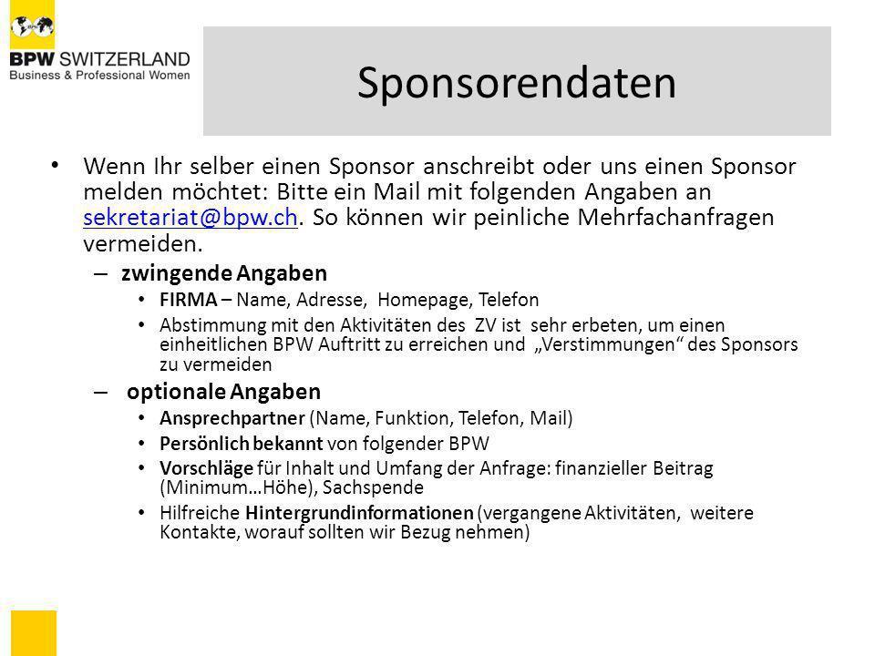 Sponsorendaten