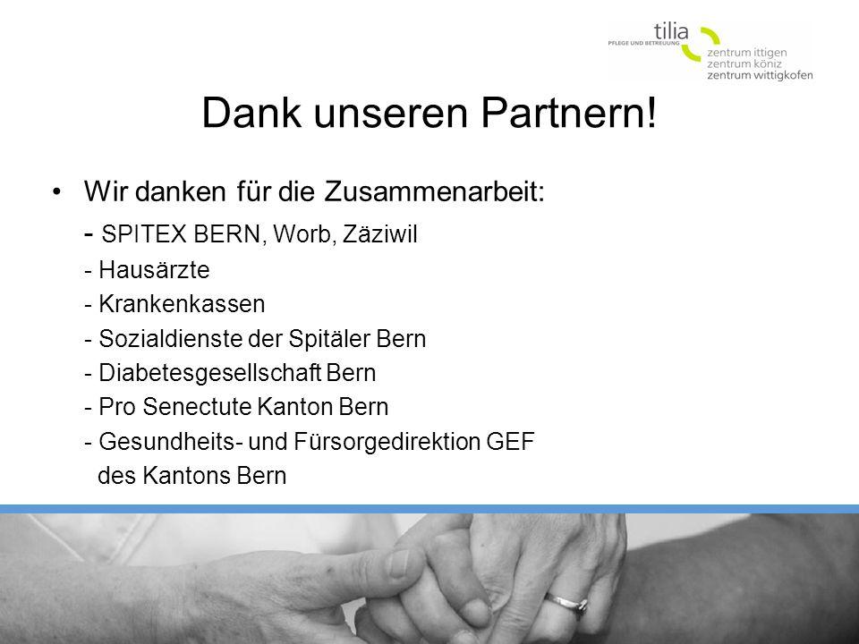 Dank unseren Partnern! Wir danken für die Zusammenarbeit: