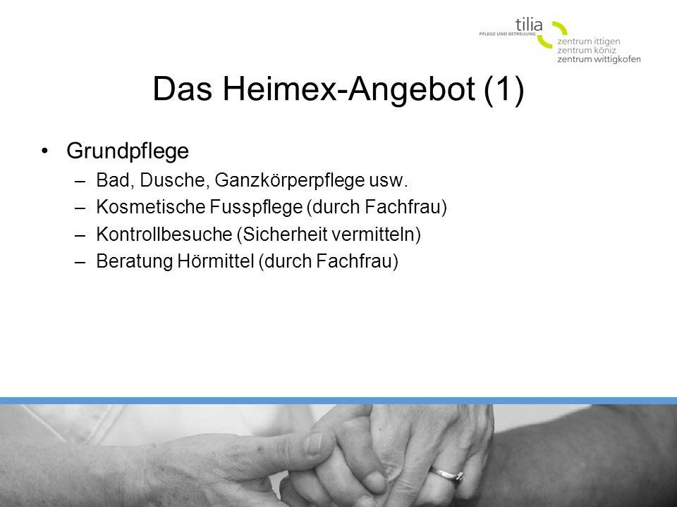 Das Heimex-Angebot (1) Grundpflege Bad, Dusche, Ganzkörperpflege usw.