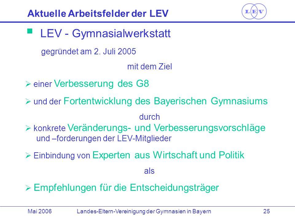 LEV - Gymnasialwerkstatt