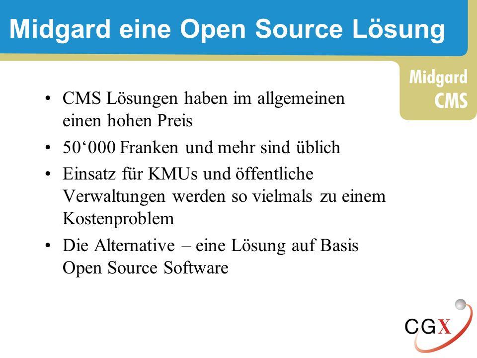 Midgard eine Open Source Lösung