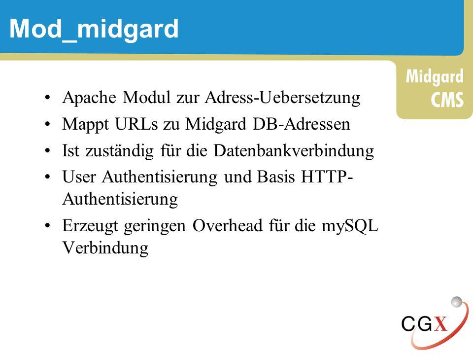 Mod_midgard Apache Modul zur Adress-Uebersetzung