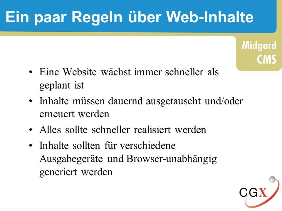 Ein paar Regeln über Web-Inhalte