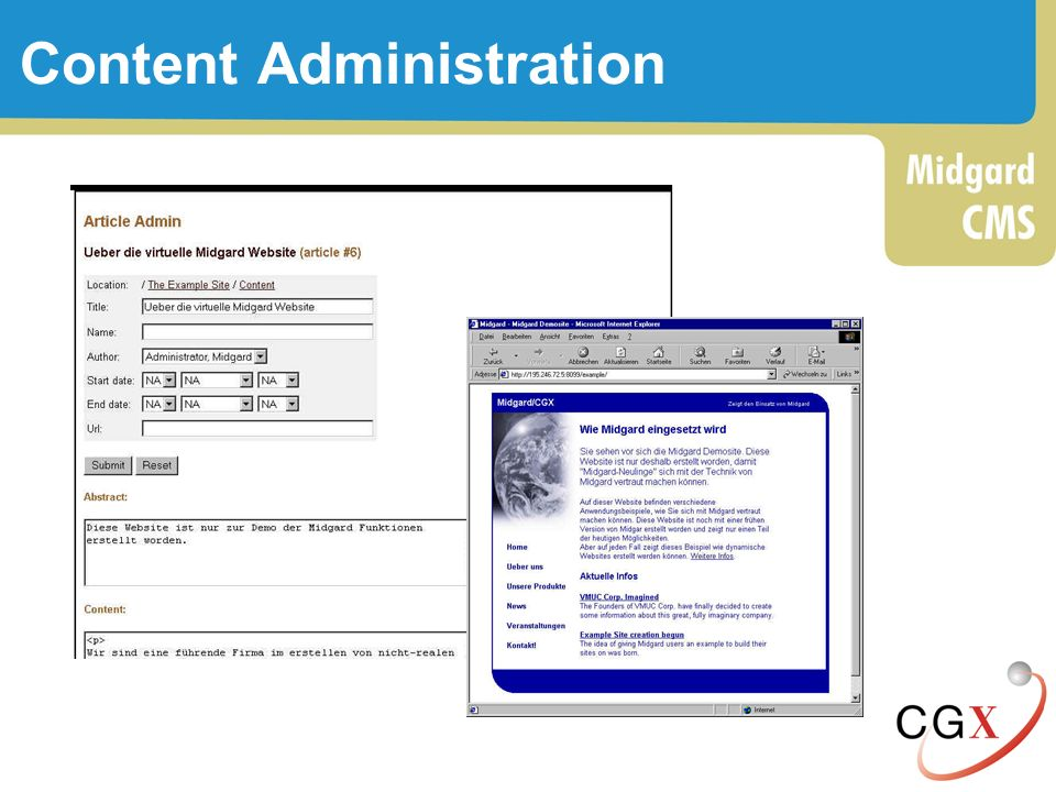 Content Administration
