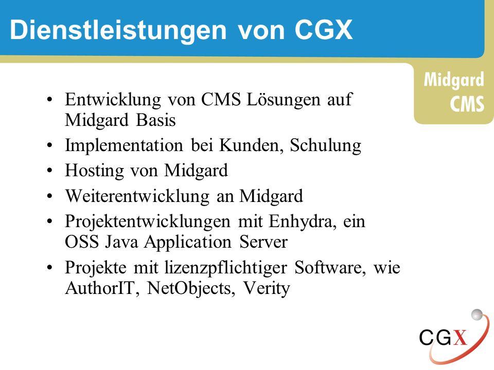 Dienstleistungen von CGX