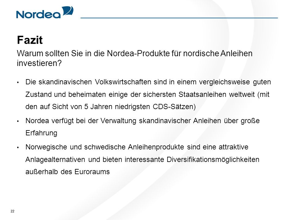 Fazit Warum sollten Sie in die Nordea-Produkte für nordische Anleihen investieren
