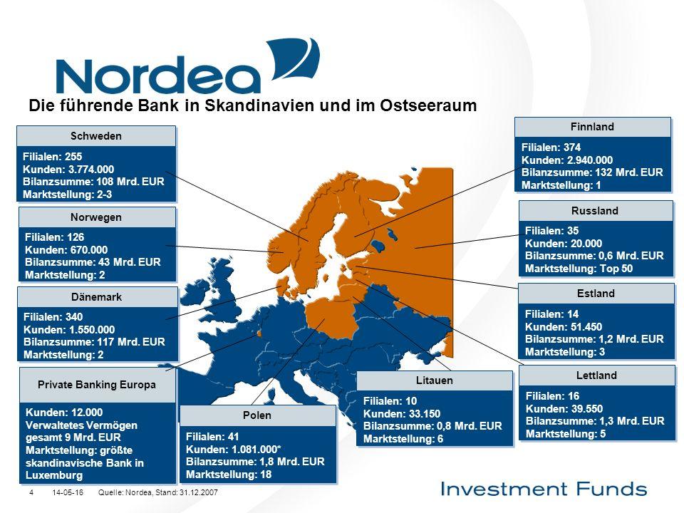 Die führende Bank in Skandinavien und im Ostseeraum