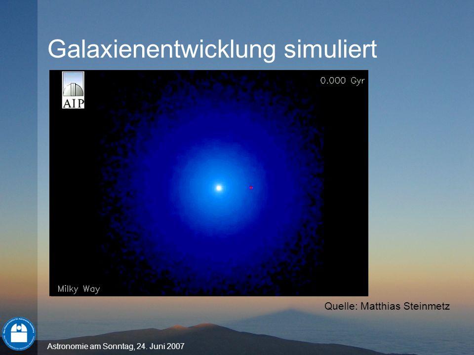 Galaxienentwicklung simuliert