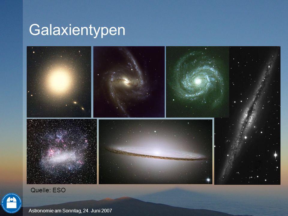 Galaxientypen Quelle: ESO