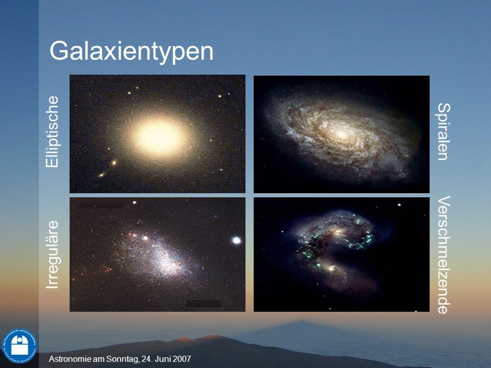 Galaxientypen Elliptische Irreguläre Spiralen Verschmelzende