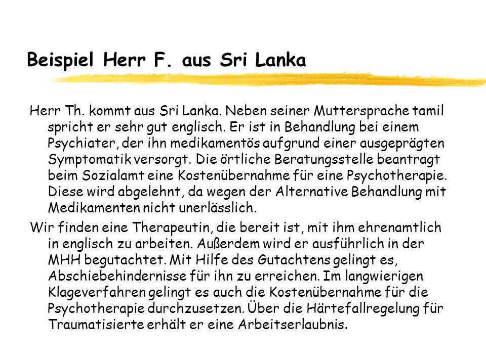 Beispiel Herr F. aus Sri Lanka