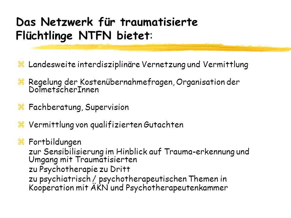 Das Netzwerk für traumatisierte Flüchtlinge NTFN bietet: