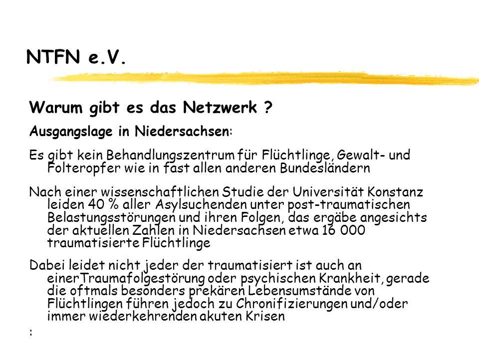 NTFN e.V. Warum gibt es das Netzwerk Ausgangslage in Niedersachsen:
