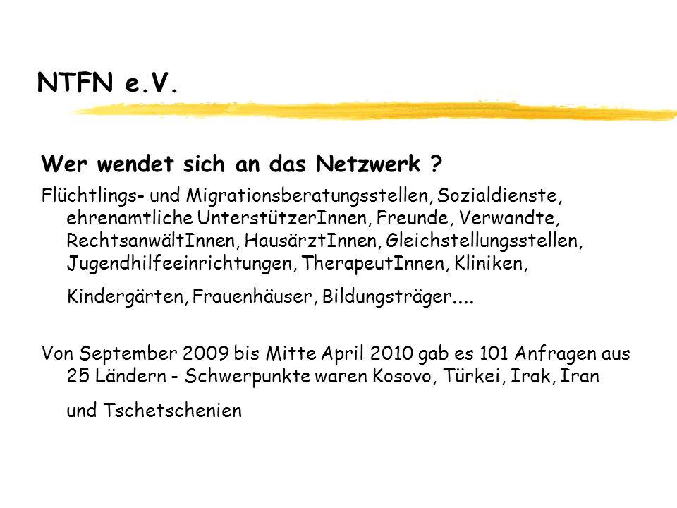NTFN e.V. Wer wendet sich an das Netzwerk