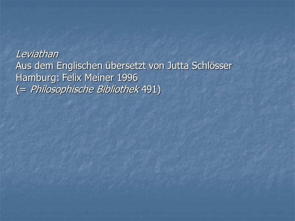 Leviathan Aus dem Englischen übersetzt von Jutta Schlösser.