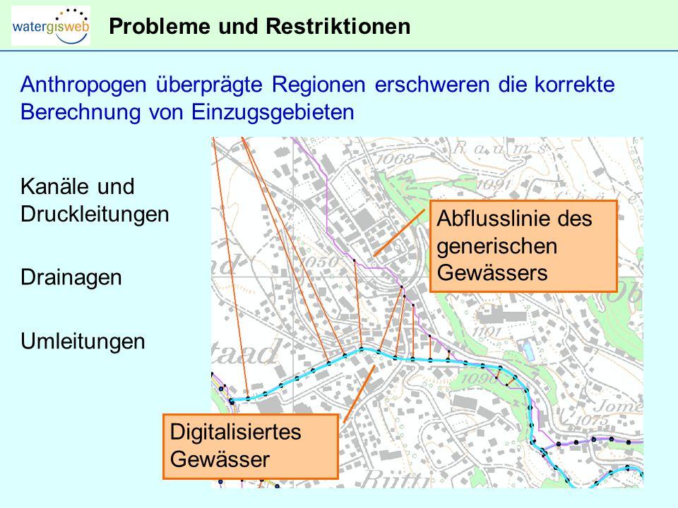 Probleme und Restriktionen