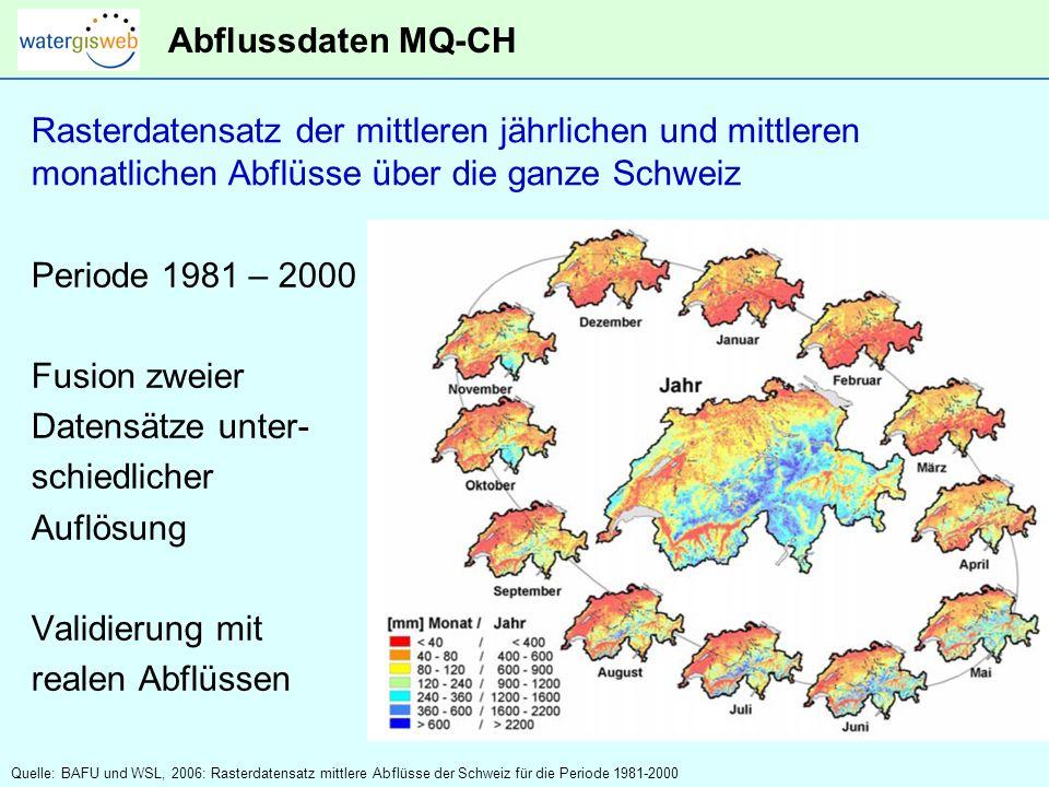 Rasterdatensatz der mittleren jährlichen und mittleren