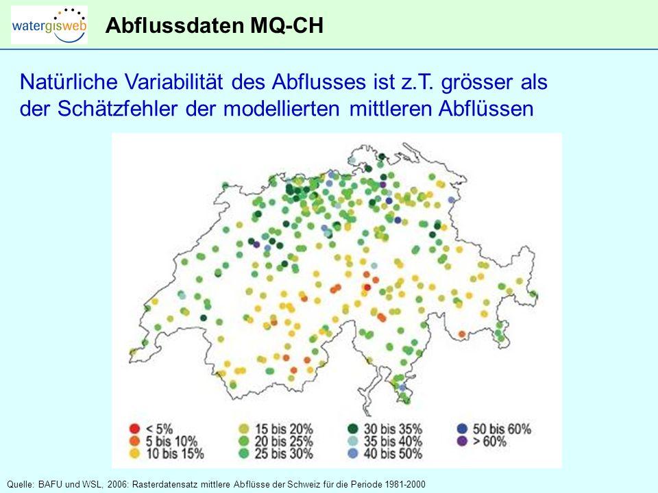 Natürliche Variabilität des Abflusses ist z.T. grösser als