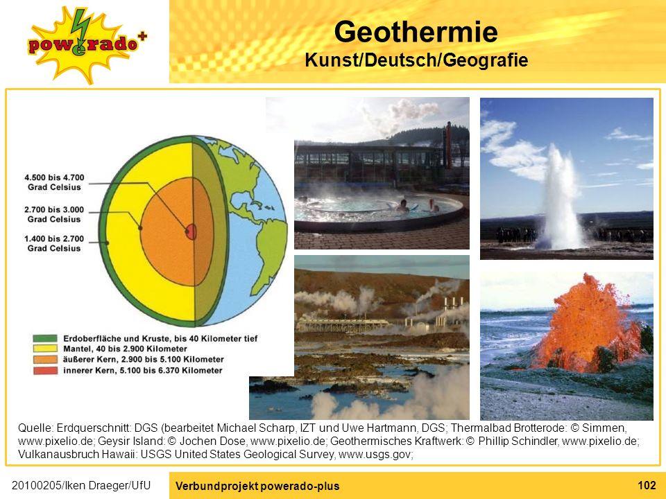 Geothermie Kunst/Deutsch/Geografie