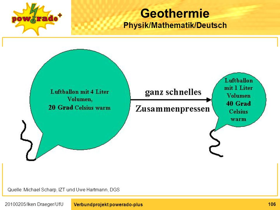 Geothermie Physik/Mathematik/Deutsch