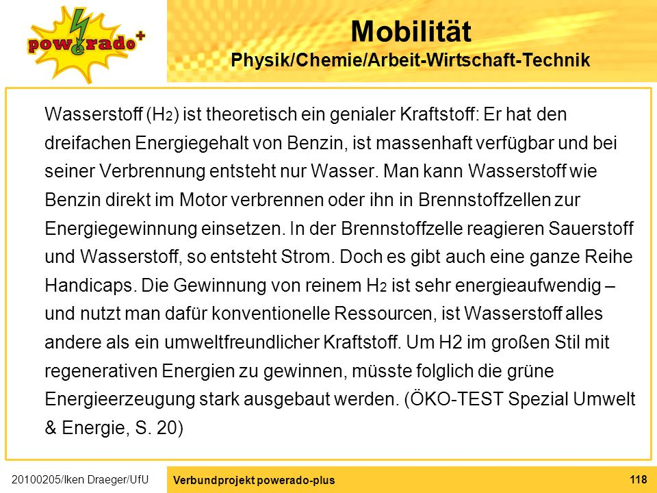 Mobilität Physik/Chemie/Arbeit-Wirtschaft-Technik