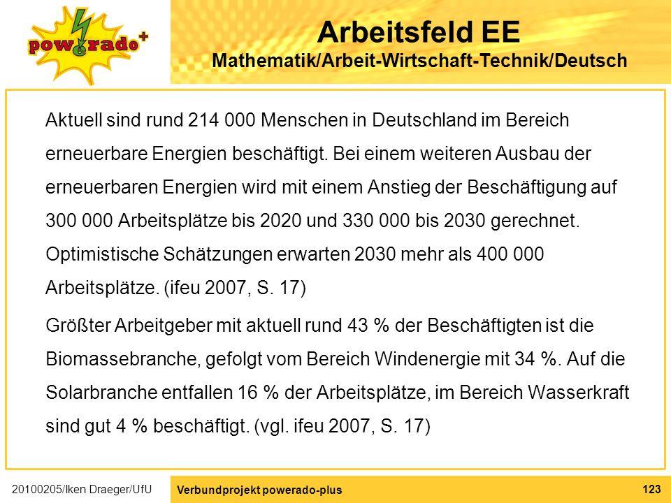 Arbeitsfeld EE Mathematik/Arbeit-Wirtschaft-Technik/Deutsch
