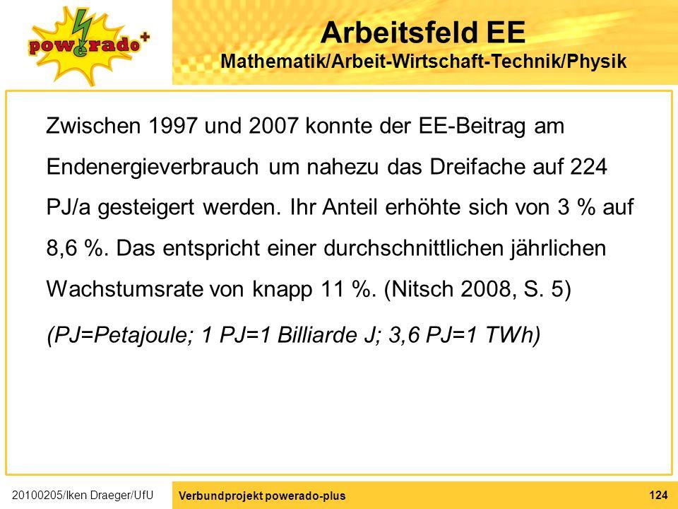Arbeitsfeld EE Mathematik/Arbeit-Wirtschaft-Technik/Physik