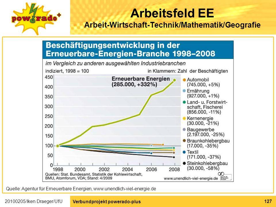 Arbeitsfeld EE Arbeit-Wirtschaft-Technik/Mathematik/Geografie