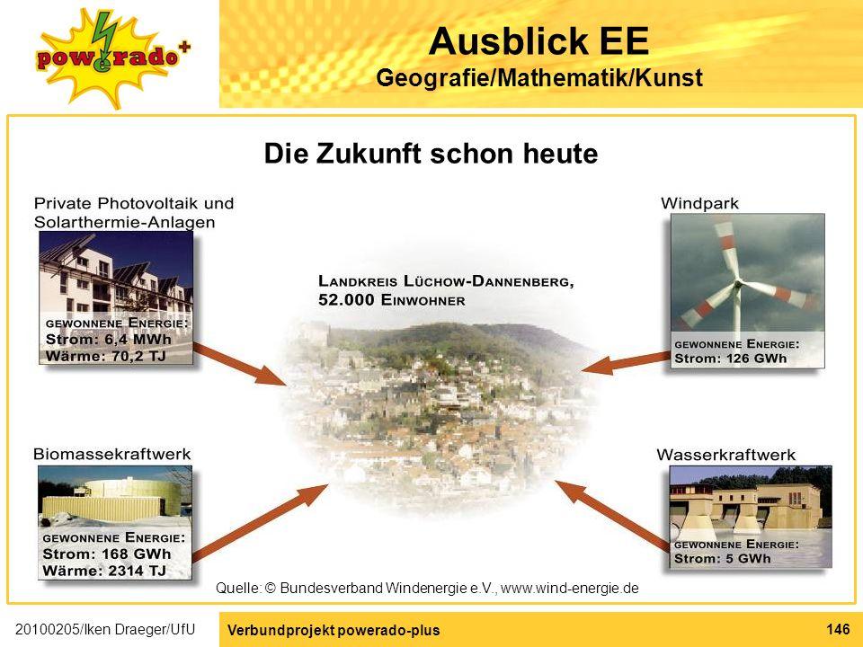 Ausblick EE Geografie/Mathematik/Kunst