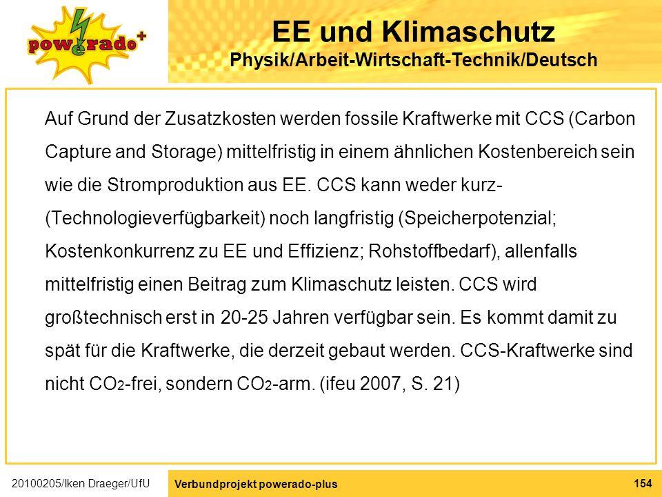 EE und Klimaschutz Physik/Arbeit-Wirtschaft-Technik/Deutsch