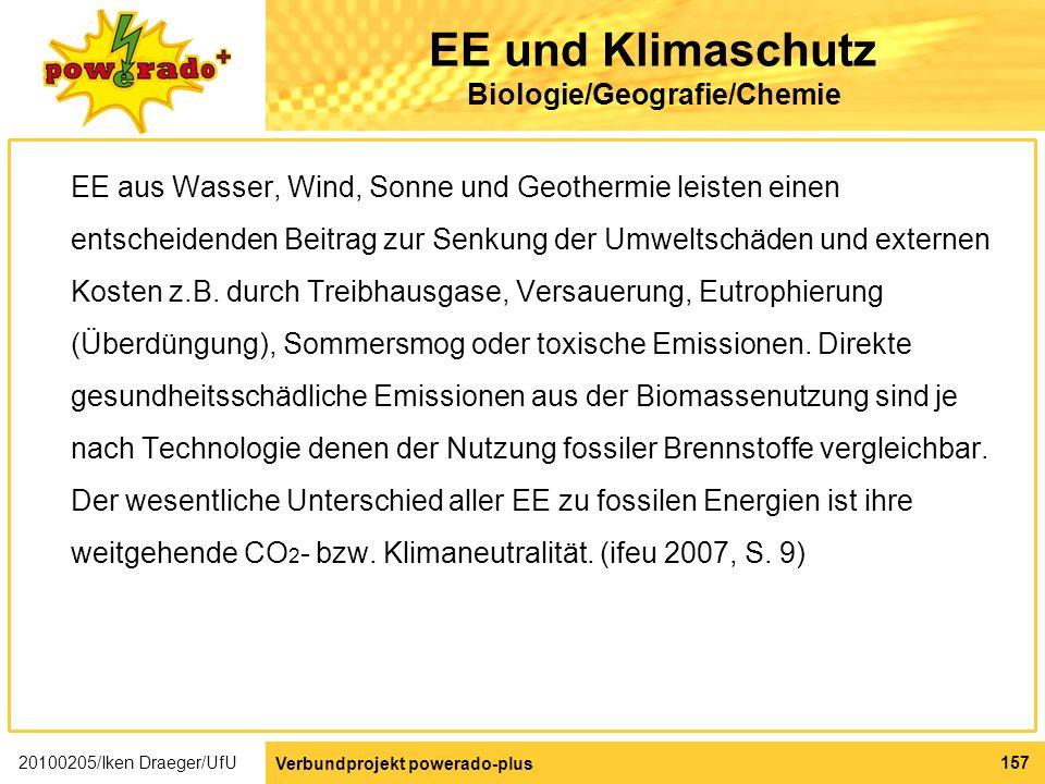 EE und Klimaschutz Biologie/Geografie/Chemie