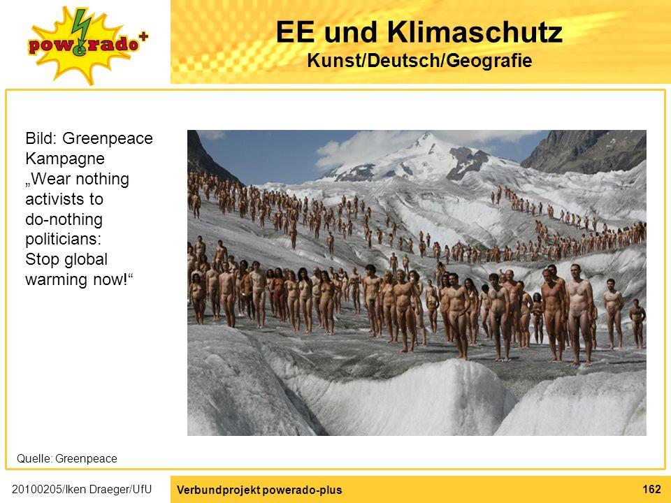 EE und Klimaschutz Kunst/Deutsch/Geografie