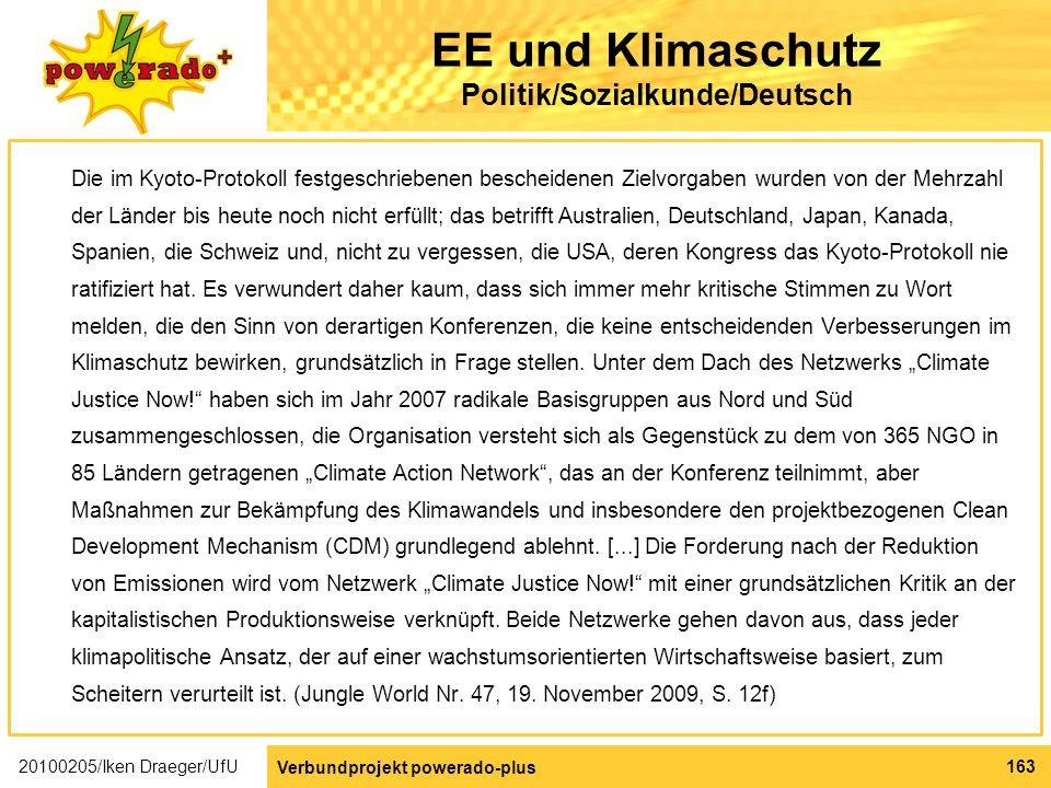 EE und Klimaschutz Politik/Sozialkunde/Deutsch