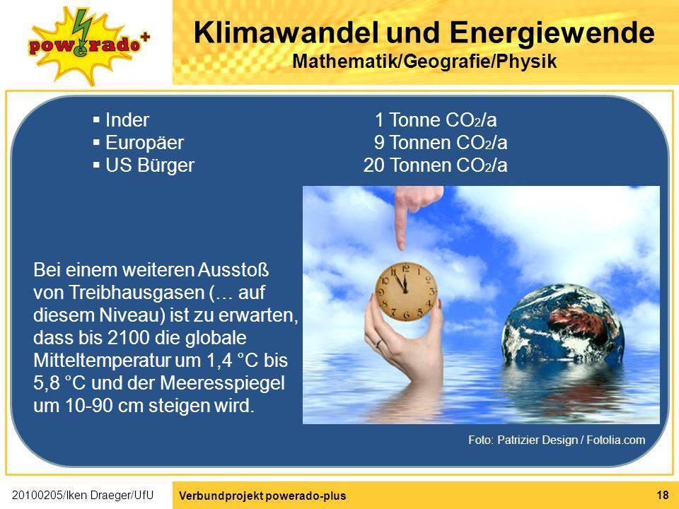 Klimawandel und Energiewende Mathematik/Geografie/Physik