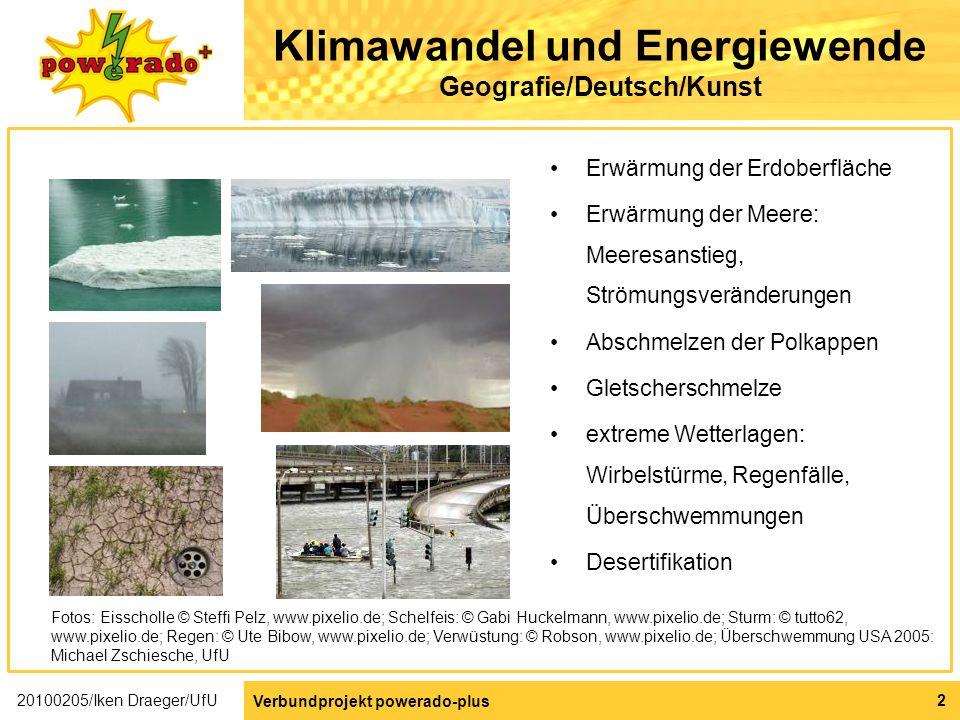 Klimawandel und Energiewende Geografie/Deutsch/Kunst