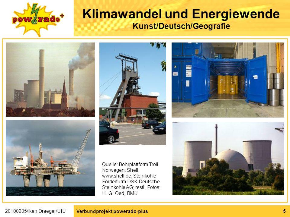 Klimawandel und Energiewende Kunst/Deutsch/Geografie