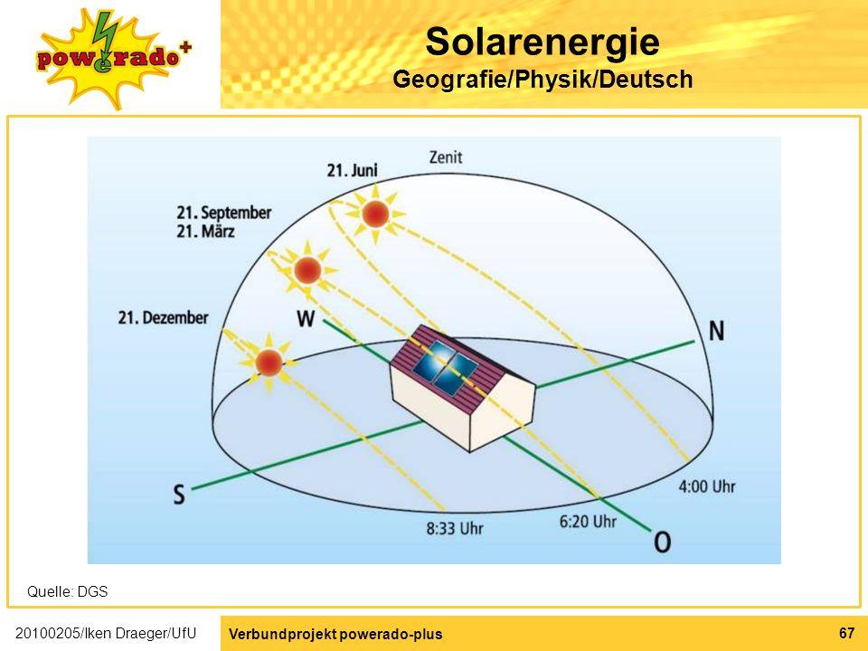 Solarenergie Geografie/Physik/Deutsch