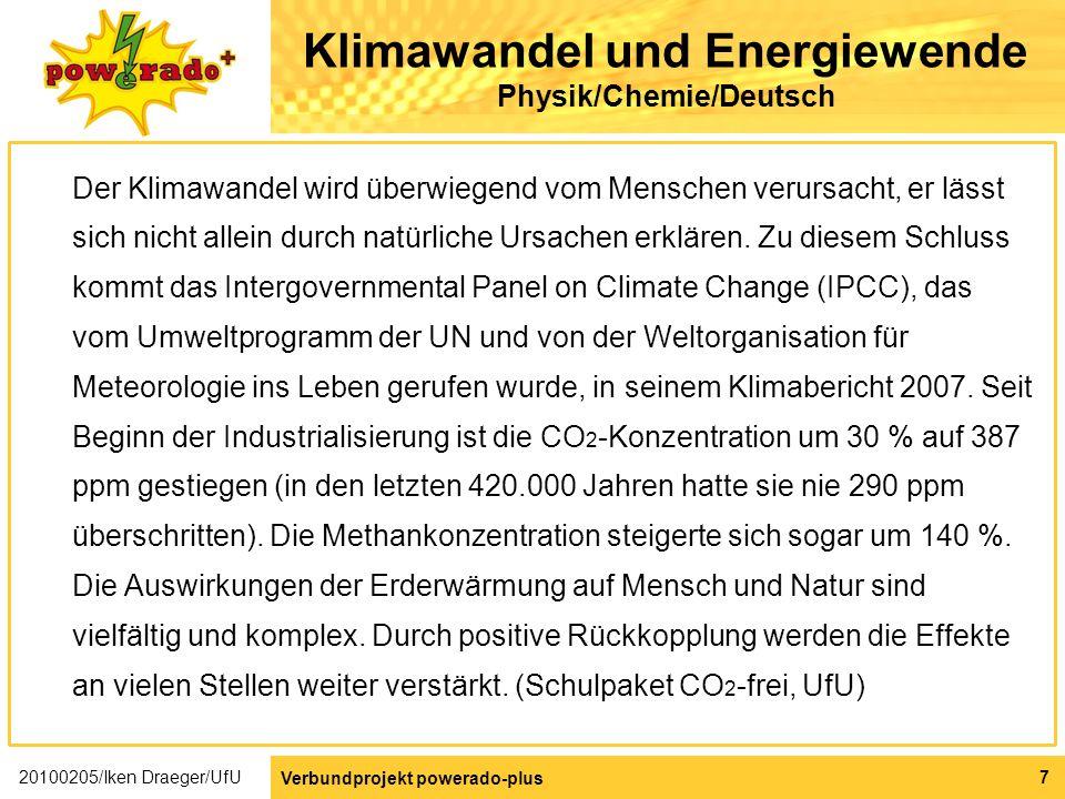 Klimawandel und Energiewende Physik/Chemie/Deutsch
