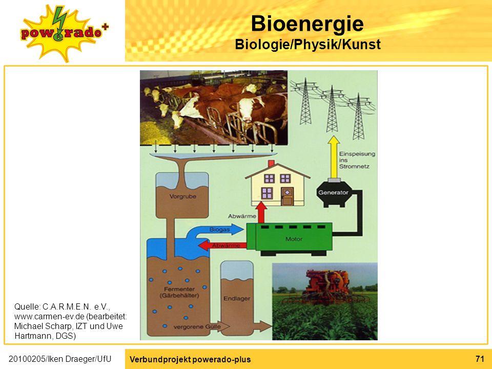 Bioenergie Biologie/Physik/Kunst