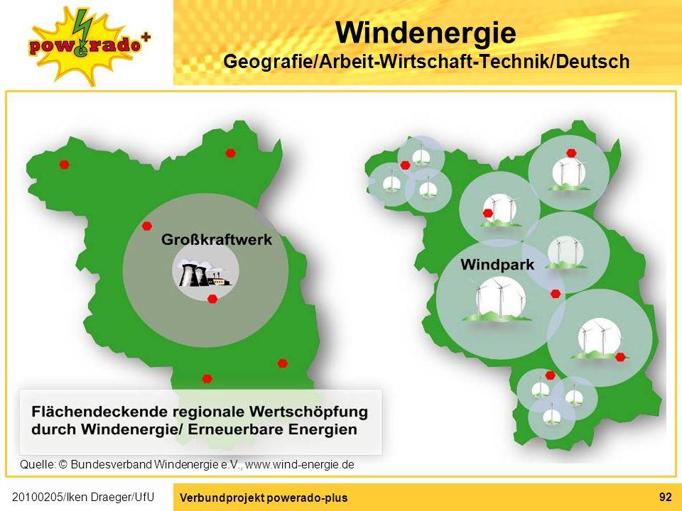 Windenergie Geografie/Arbeit-Wirtschaft-Technik/Deutsch