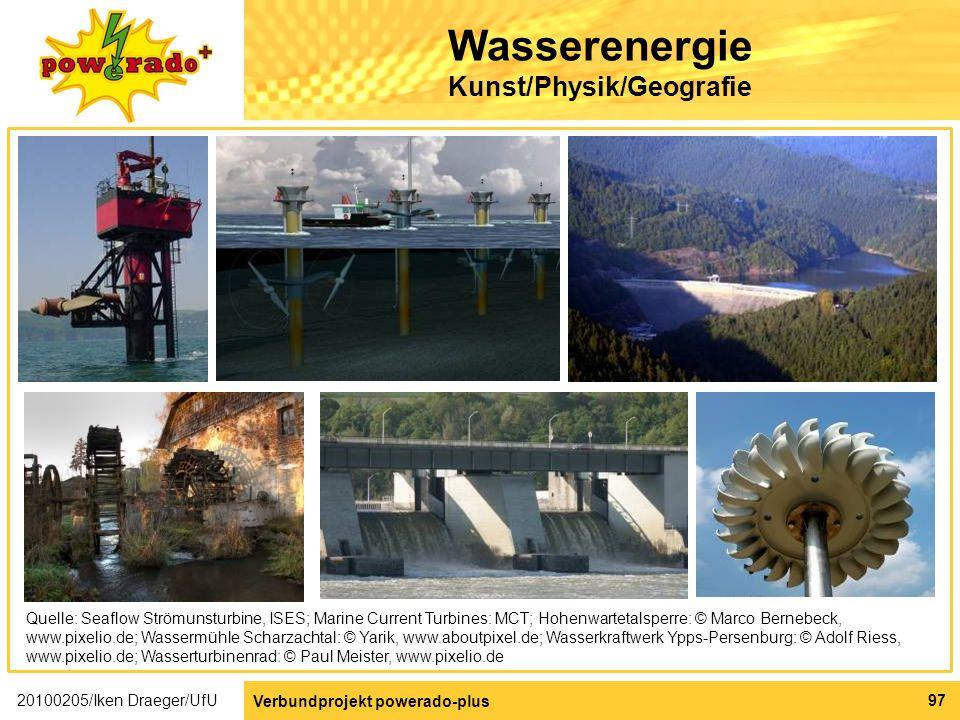 Wasserenergie Kunst/Physik/Geografie
