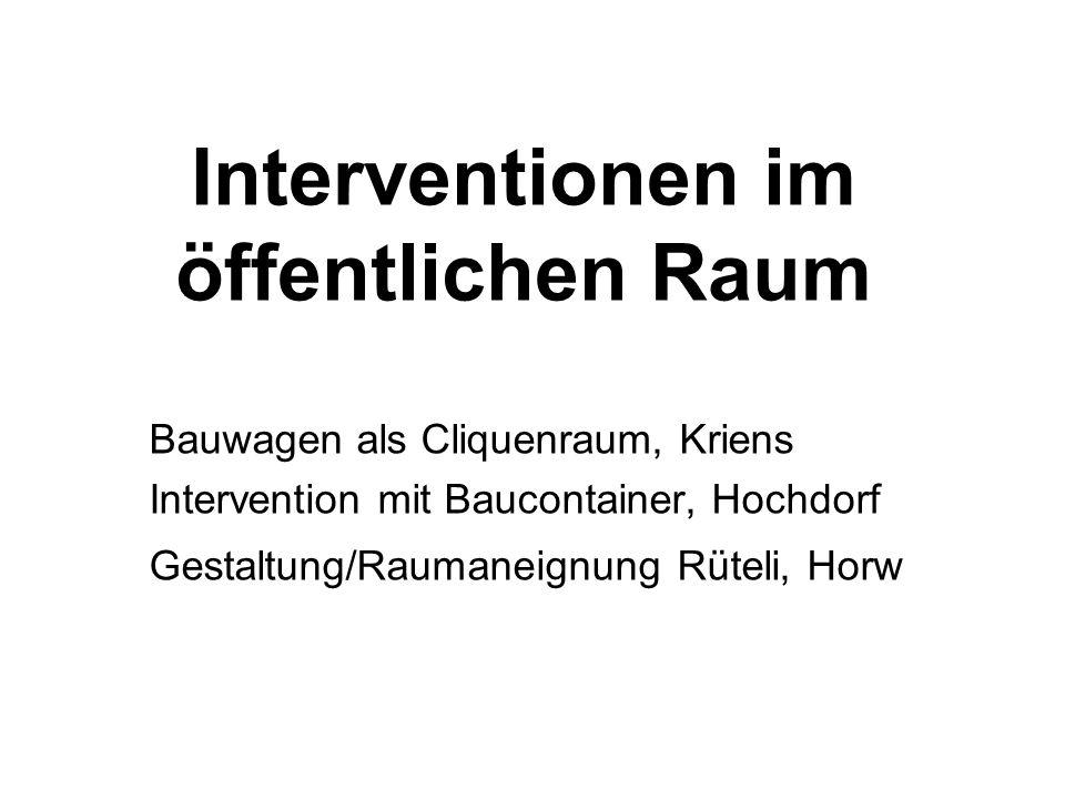 Interventionen im öffentlichen Raum