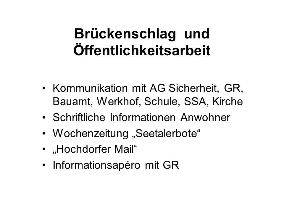 Brückenschlag und Öffentlichkeitsarbeit