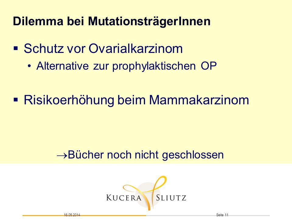 Dilemma bei MutationsträgerInnen